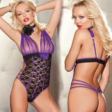 ERFSQIYALHJ Sexy Lace Lingerie Bodysuit for Women Erotic Transparent Cortchless Jumpsuit Adult Underwear  New