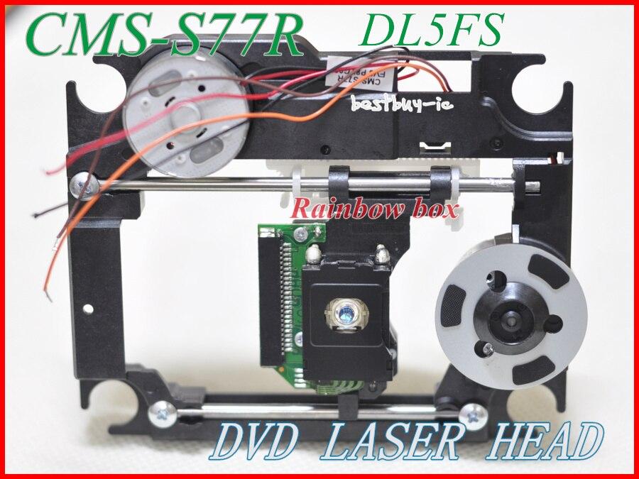 SOH-DL5FS captador óptico CMS-S77R para DVD Laser cabeça 23pin Lente com mecanismo de plástico