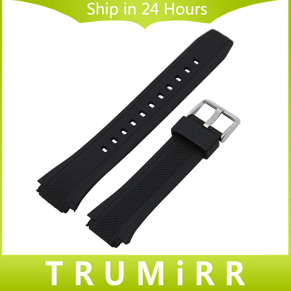 Convex Silicone Rubber Watchband + Tool for EQW-M1100C / EQW-A1000B Replacement Watch Band Men Strap Wrist Belt Bracelet Black