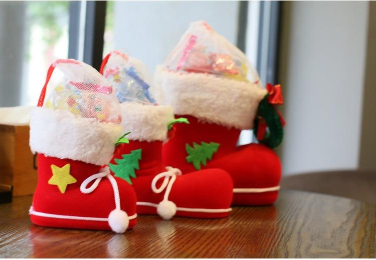 рождественские украшения подарки для детей конфеты сапоги рождественские украшения небольшие подарочные пакеты праздничный рождественские носки обувь