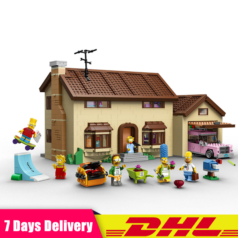 LEPIN 16005 2575Pcs The Simpsons House Model Building Block Bricks Boy Bart Homer The Kwik-E-Mart Compatible LegoINGlys 71006 цена
