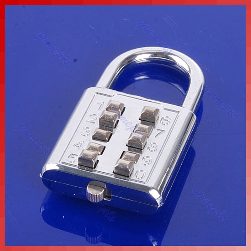 Home Improvement Tireless 5 Digit Push-button Number Combination Luggage Travel Code Lock Padlock Silver S08 Drop Ship Waterproof Shock-Resistant And Antimagnetic