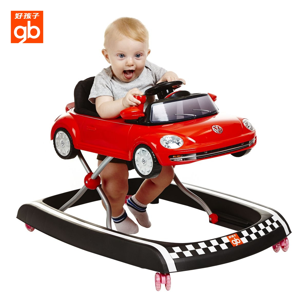 baby toddler wooden walker volkswagen p mths blue toy hape beetle asp