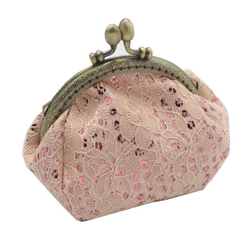 Women Lady Retro mini purse Vintage Lace Small Wallet Hasp Purse Clutch Bag coin purse mini women wallets monedero mujer Lucky