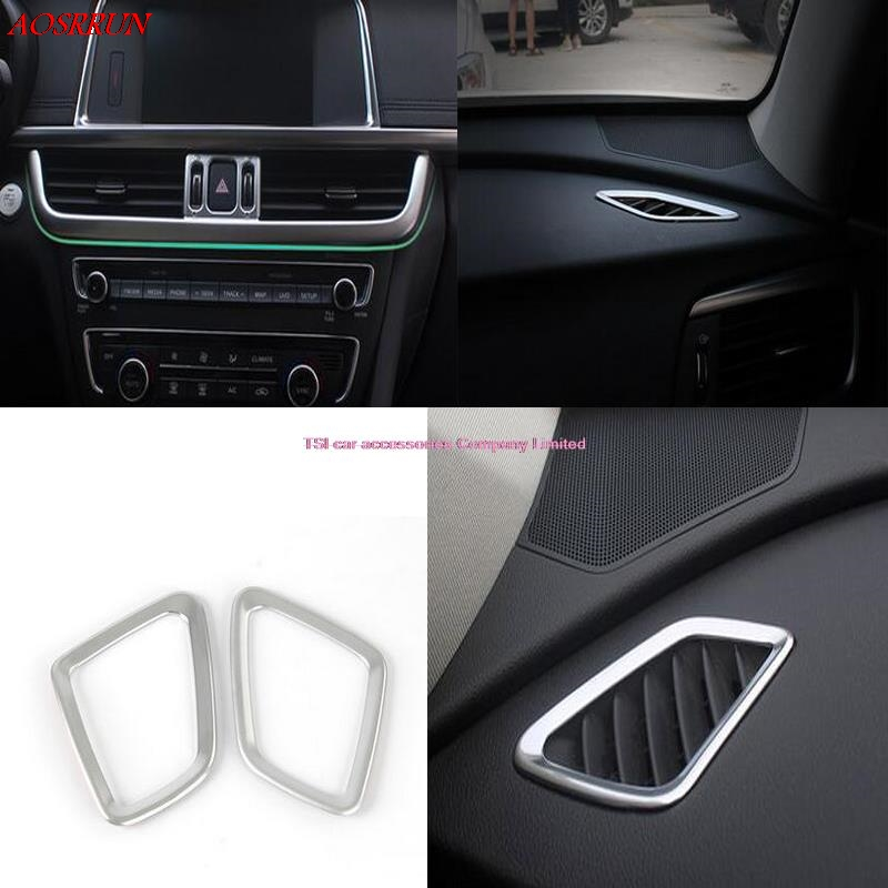 3pcs car-styling Chrome Interior center+upper AC Air Vent Outlet Cover Trim Cover for Kia Optima K5 2016 Car Interior styling цена