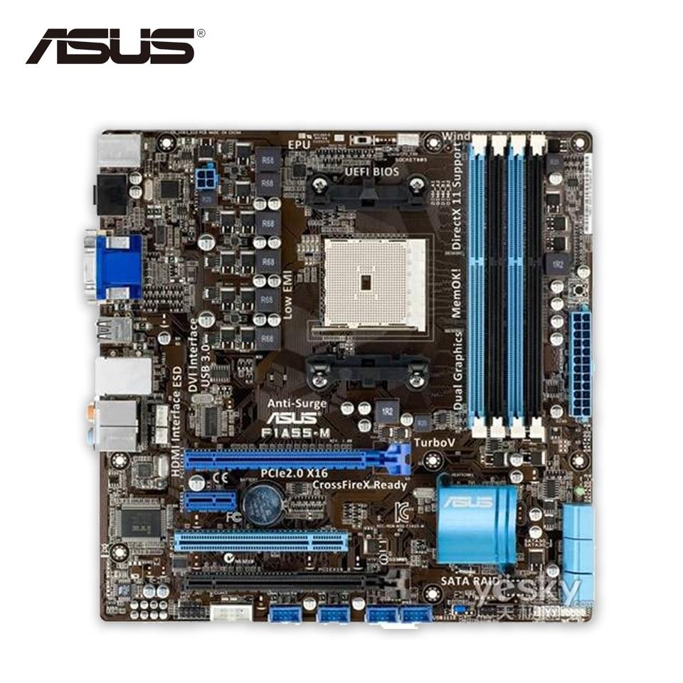 все цены на Asus F1A55-M Original Used Desktop Motherboard A55 Socket FM1 DDR3 32G USB3.0 Micro ATX онлайн