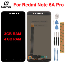Продажа For Xiaomi Redmi Note 5A Pro LCD Display + Touch Screen Digitizer Assembly For Redmi Note 5A Prime Global Version 3GB RAM / 4G