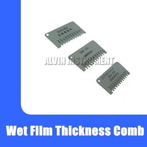 Free Shipping Wet Film Thickness Comb thickness gauge meter 0~100um/150um/200um/700um/750um/950um available cm 8000 hexagon wet film comb