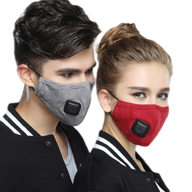 HTB1wmCkXfb2gK0jSZK9q6yEgFXaS Korean Fabric mouth face mask PM2.5 Anti Haze/Anti dust mouth mask Respirator mascaras With Carbon Filter Respirator Black Mask