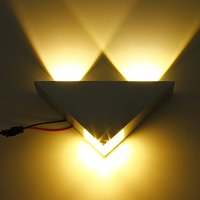 3 W LED AC85V-265V 50/60 HZ Wewnętrzne Kinkiet LED Kinkiet Lampa energy saving Lamp LED W aluminium, żółty