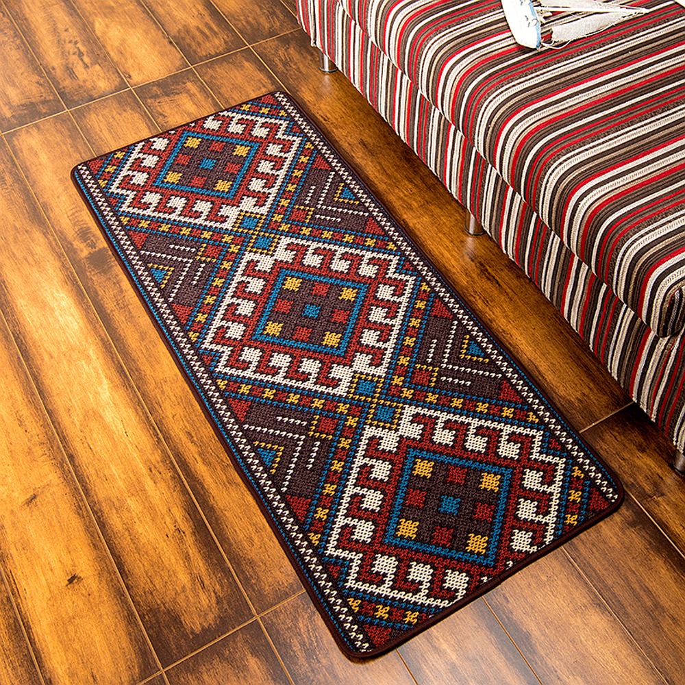 Rooster Tapestry Non Skid Rug: Modern Originality National Style Kitchen Runner Rug Non
