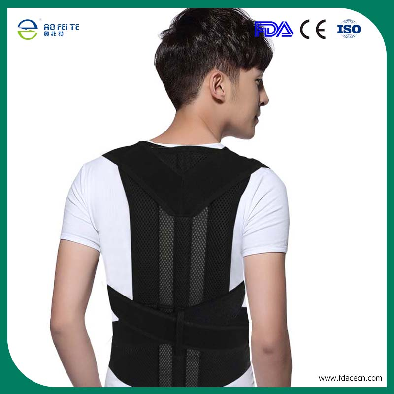 Back Support Posture Correction Men Corset Back Brace Orthopedic Lumbar Shoulder Postural Correction Belts Adjustable B003