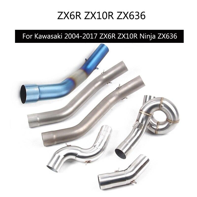 2 дюймовый выхлопной Mid трубы для Kawasaki Zx6r Kawasaki Zx10r
