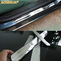 Stainless Steel Door Sill Scuff Plate Trim For Ford Fiesta Sedan Hatchback 2010 2011 2012 2013