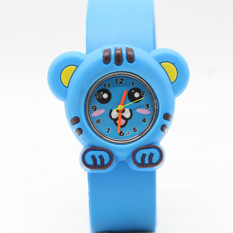 Creative Slap Kids Watch 3d Cartoon Silicen Quartz Wristwatches Tiger Sport Children Watches Cute Baby Clock Christmas Gifts Children's Watches