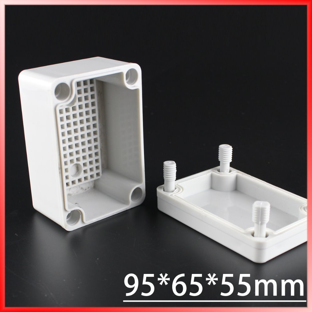 95*65*55MM IP67 Waterproof Plastic Electronic Project Box w/ Fix Hanger Plastic Waterproof Enclosure Box Housing Meter Box 65 95 55mm waterproof case