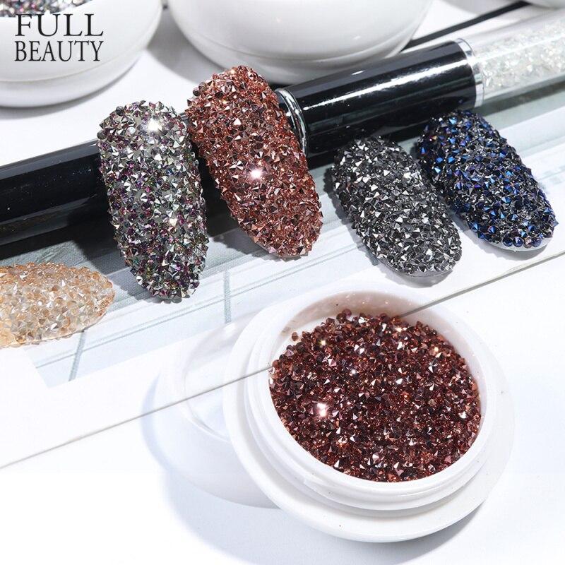 Nail Rhinestones Beads Jewelry Decoration Gel-Polish Charms Zircon Gems Crystal Glitter