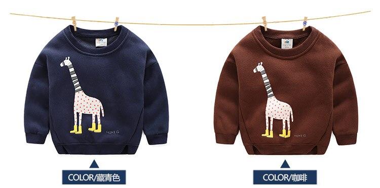 2018 Autumn Winter Warm 2-10 Years Old Children Long Sleeve Cartoon Animal Print Kids School Baby Handsome Boy Fleece Sweatshirt (7)