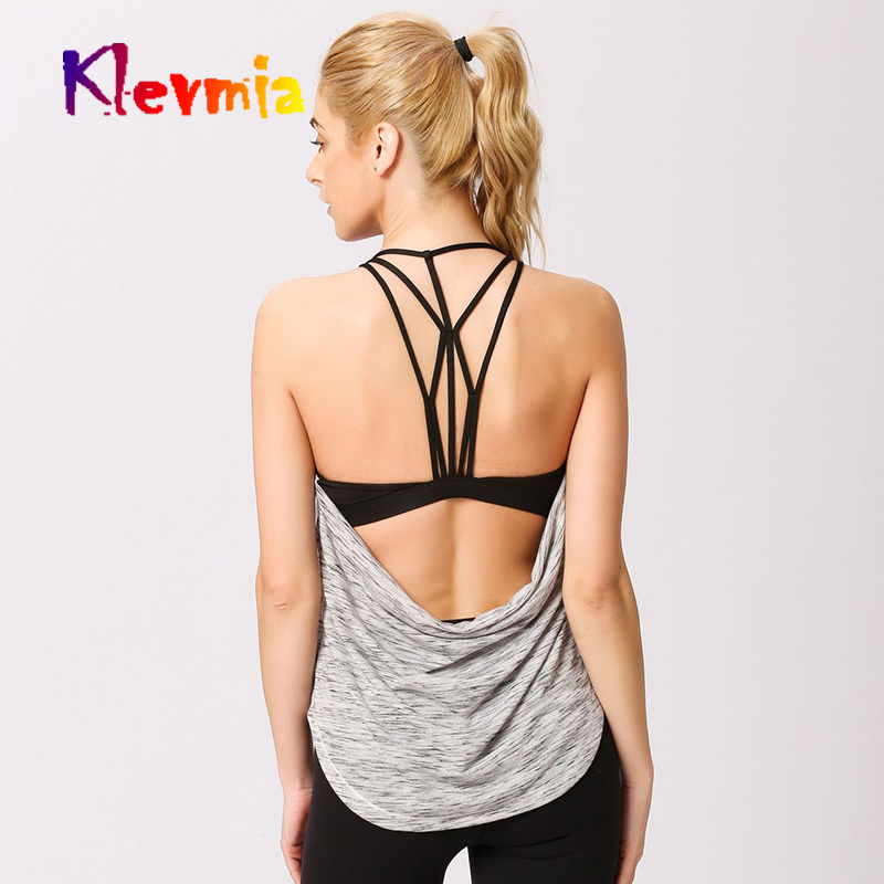 Fitness Women Sport Top Sleeveless Yoga Running Shirt Sports Wear For Gym Tank Workout Tshirt Woman
