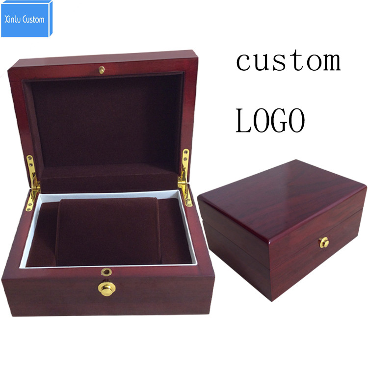 Luxury professional custom new design high grade outter wooden inner brown velvet watch box for watch seller wholesale price кроссовки asics gel lyte iii c5a4n