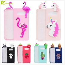 Фотография KL-Boutiques 3D Unicorn Cartoon Case For Samsung Galaxy Note 8 Note8 Fundas Fruits Cactus Flamingo Toys Soft Silicon Phone Cover
