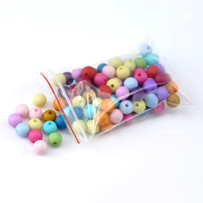 Doreen Box hot 300PCs Mixed Round Acrylic Spacer Beads For DIY Jewelry Making 8mm 3 8 Dia. B19525