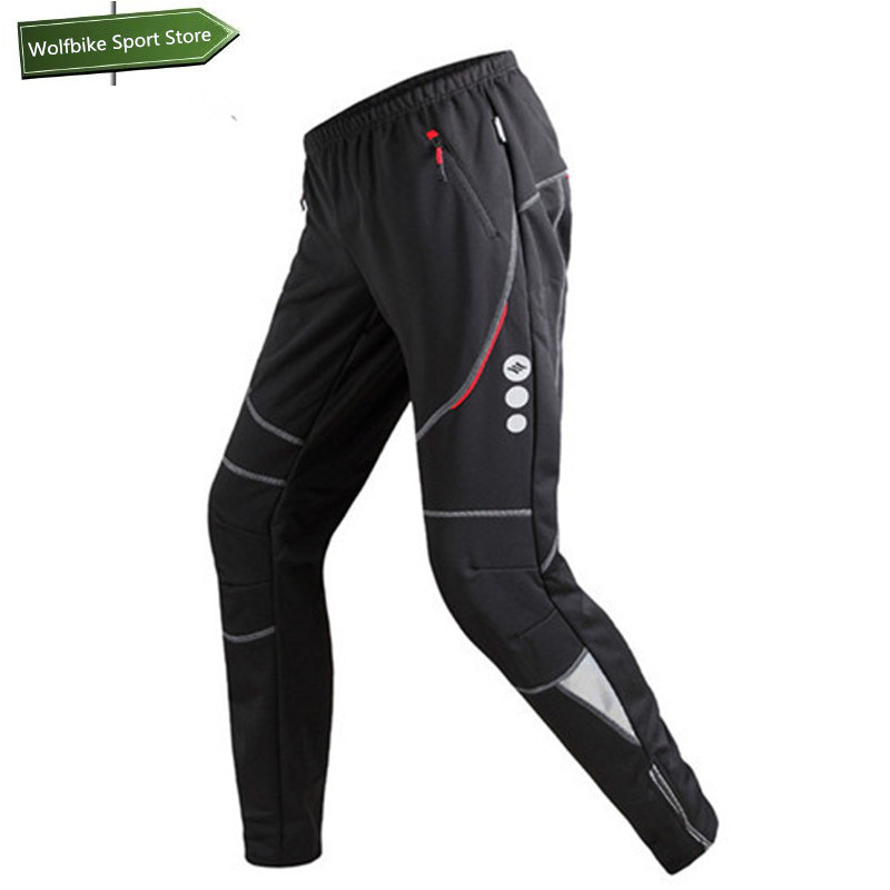 SANTIC Men's Thermal mtb Cycling Pants Windproof Polyester Mtb Pants Mountain Bike Bicycle Pants Black Cycling Trousers santic mtb cycling pants bicycle bike downhill pants women trainers cycling tight pants l5c05058p