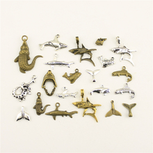 Charm Women Backless Dress Animal Shark Whale Tail Crocodile Supplies For Jewelry Materials Hand Made Charms