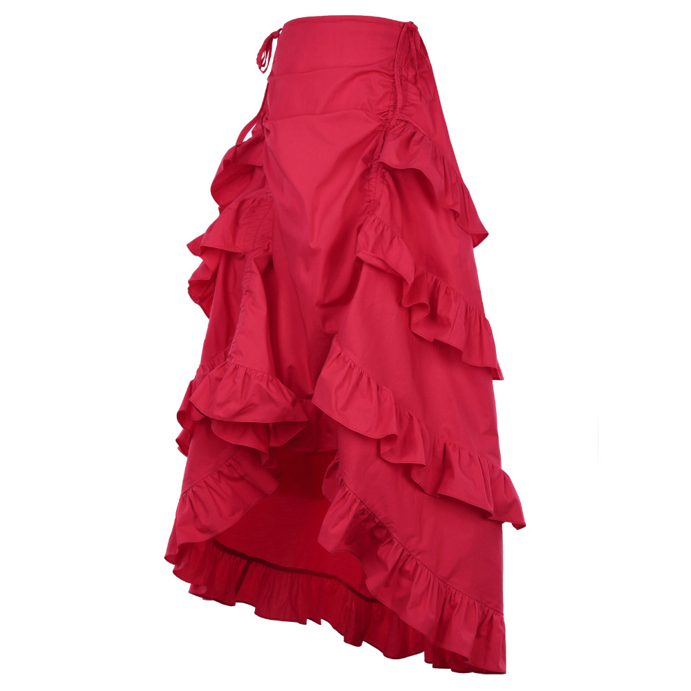 HTB1wmEEQVXXXXbZXVXXq6xXFXXXr - FREE SHIPPING Women Skirt Red Ruffles JKP094