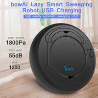 Smart Robot Vacuum Cleaner Sweeping USB Charging 3 Modes Sweeper Low Noise Cleaning Machine For Home Dust Sterilize 1800Pa