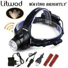 Litwod Z30568-B Inducción LLEVÓ La Linterna De Aluminio XM-L T6 led faro zoom cabeza luz delantera de la linterna de la lámpara principal ajustable