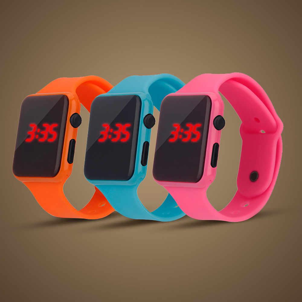 デジタルの女性の腕時計正方形メンズウォッチの Led 電子スポーツウォッチとシェル調整腕時計 erkek kol saati dijital 03 *