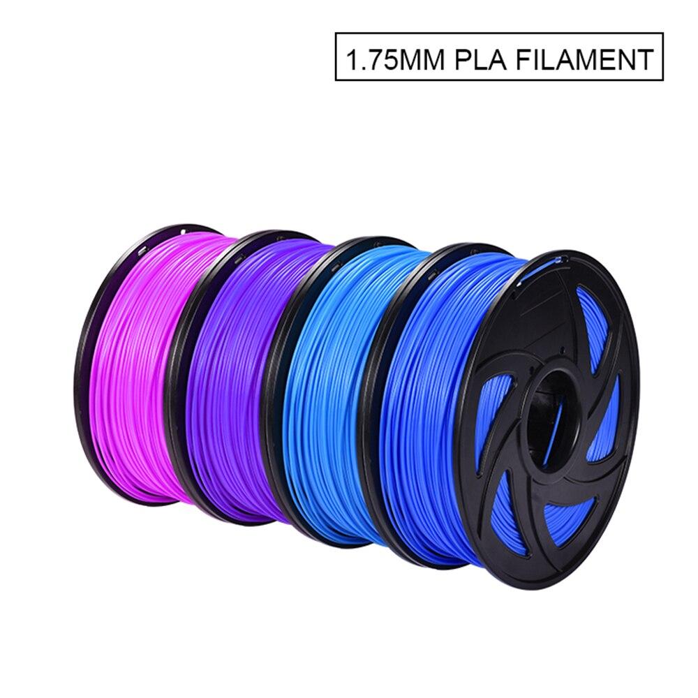 Filament PLA imprimante 3D 1.75mm Filament précision dimensionnelle +/-0.05mm 1 KG 343 M matériau d'impression 3D Impresora pour RepRap