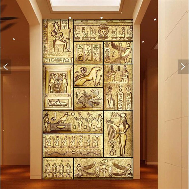 Abstract Personality Character Painting Large Murals TV Setting Wall Paper Porch Corridor Non-woven Wallpaper In Ancient Egypt