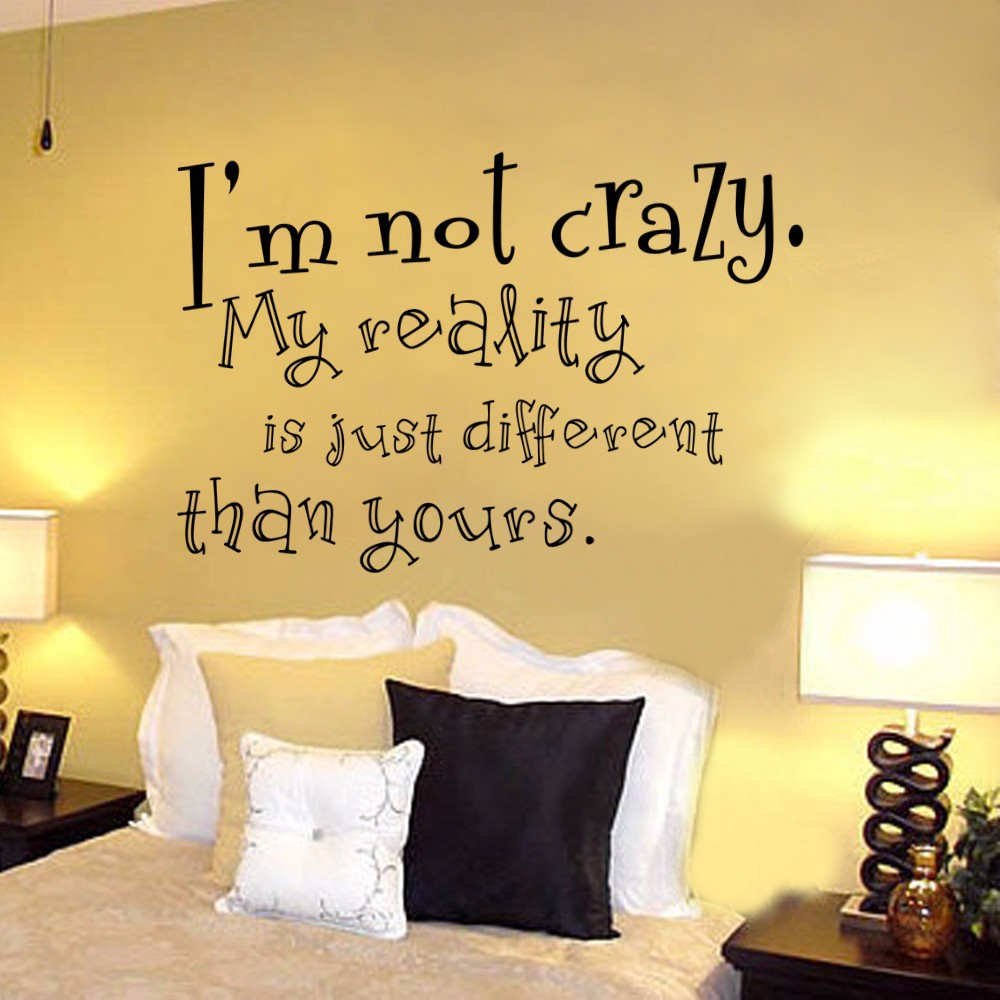 Cheshire Cat Sayings Im Not Crazy Alice In Wonderland Quote Decal - Baby nursery wall decals sayings