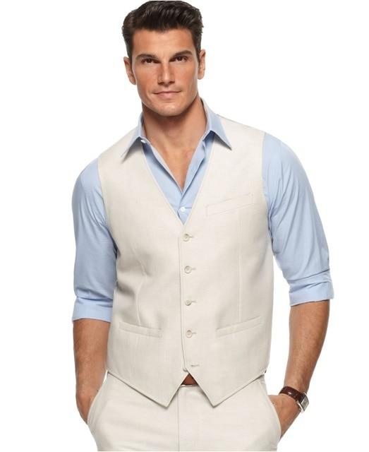 well known huge discount huge inventory Linen Dress Pants & Vest Custom Made Linen Wedding Waistcoat For Men Linen  Trousers Men Slim Fit,Linen Wedding Suits For Groom-in Suits from Men's ...