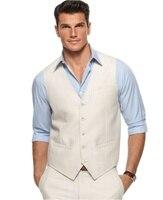 Linen Dress Pants & Vest Custom Made Linen Wedding Waistcoat For Men Linen Trousers Men Slim Fit,Linen Wedding Suits For Groom