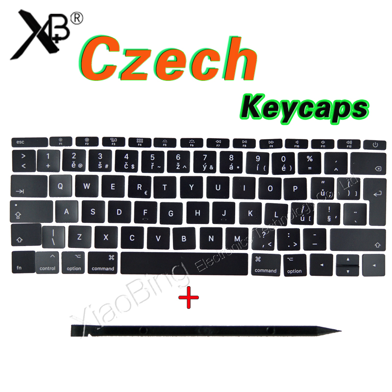 New For Macbook Pro Retina 13 15 A1706 A1707 A1708 CZ Czech Republic Keyboard Key Cap Keycaps 2016 2017 image