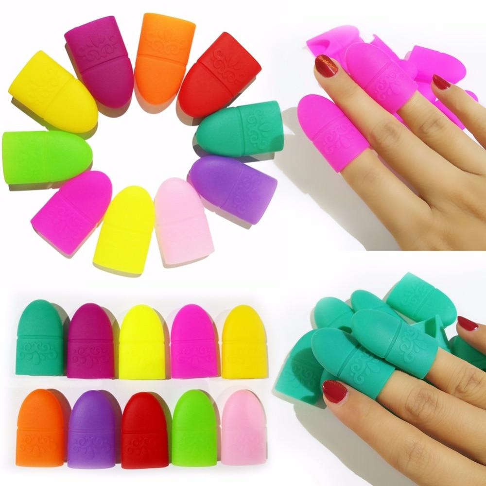 10pcs/Lot Nail Wraps Silicon UV Gel Polish Manicure Nail Remover Wrap Cap for Nails Tips Manicure Pedicure Nail Tips Salon Tools