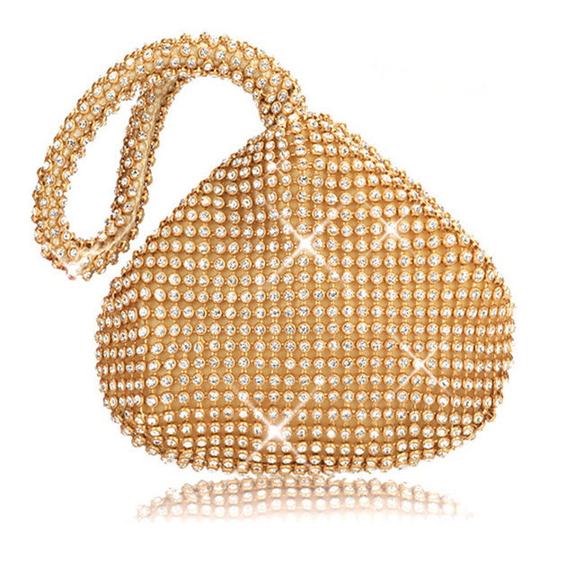 Rhinestones Women Clutch Bags Diamonds Finger Ring Ladies Vintage Evening Bags Crystal Wedding Bridal Handbags Purse Bags Holder 1
