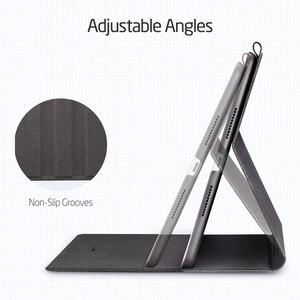 """Image 4 - IPad Air 3 2019 용 ESR 케이스 Simplicity Oxford Cloth iPad Air 3 10.5 """"2019 용 연필 홀더가있는 PU 가죽 스마트 커버 폴리오"""