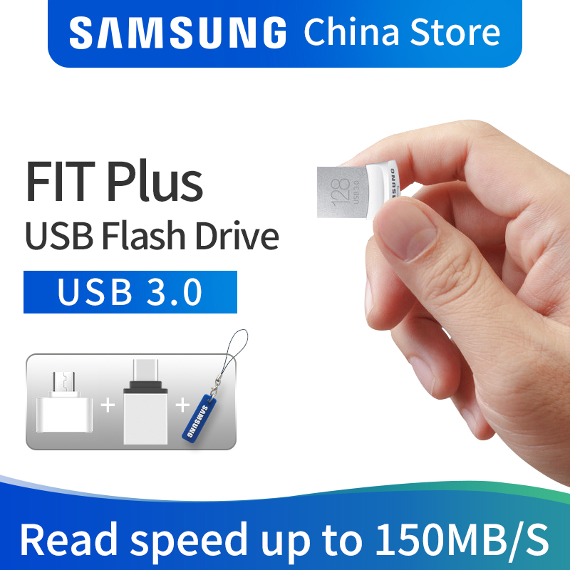 цена SAMSUNG USB Flash Drive Disk USB 3.0 150MB/S 32GB 64GB 128GB Mini Pen Drive Tiny Pendrive Memory Stick Storage Device U Disk