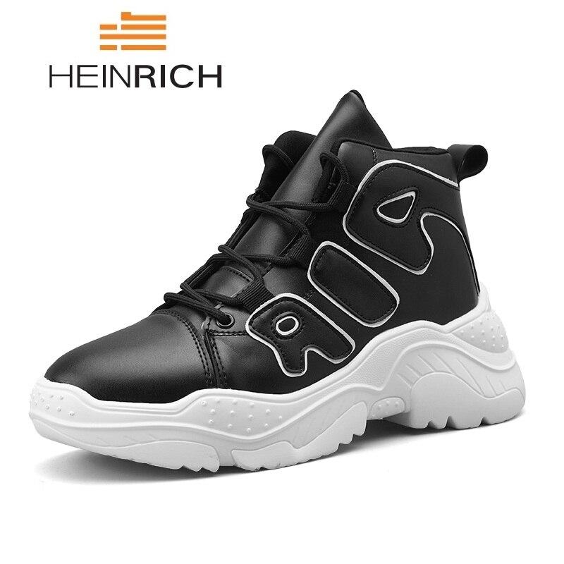43fde78843413 Al Heinrich Homb Moda Zapatos Zapatillas Salomones Transpirable blanco  Deporte rojo Hombres Libre Casuales Cuero Masculinos De ...