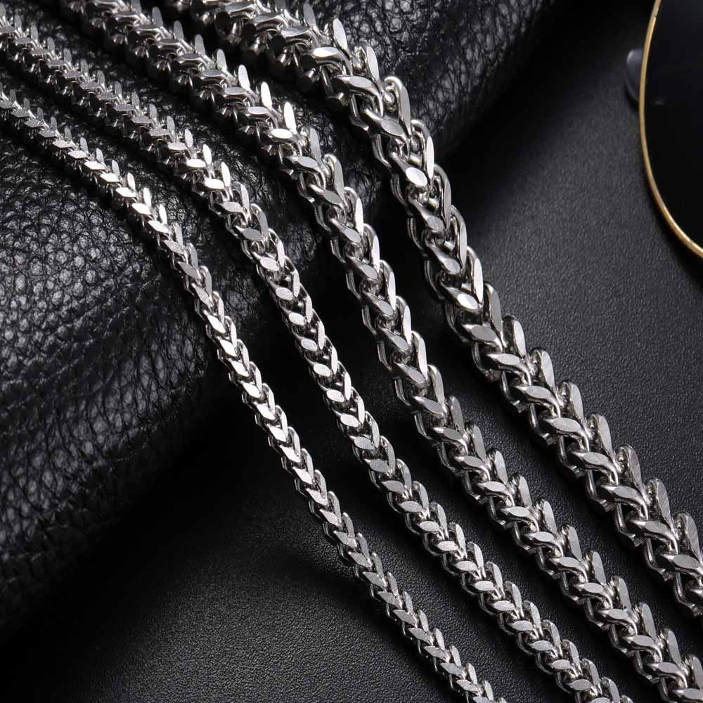 3671329ddb56a Wholesale 3mm 4mm 5mm Men Fishbone Chain Stainless Steel Cuban Chain  Necklace for Men