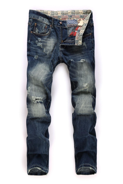 Mens Blue Jeans 2015 New Brand BIEPA Brand Destroyed Skinny Jeans Men Distressed Jeans Mens Blue ...