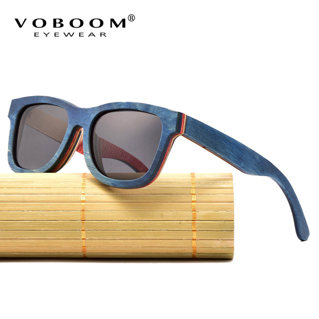 1d9cb7e22b VOBOOM Classic Brand Designer Polarized Sunglasses Men Women Handmade  Wooden Retro Sun Glasses Vintage Eyewear 001