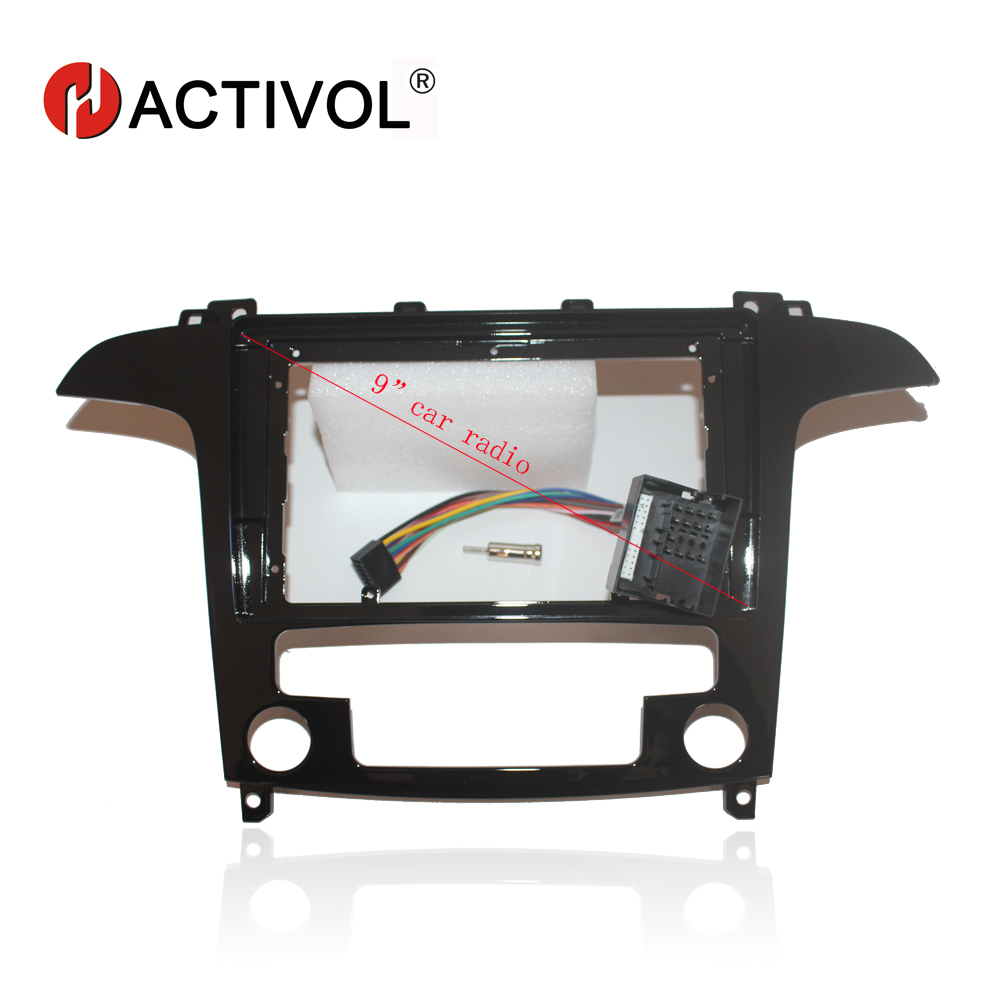 HACTIVOL 2 Din Car Radio face plate Frame for Ford S Max s max 2007 2008