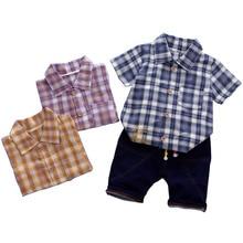 цена на 2019 New Fashion Kids Clothes Boys Summer Set 2PCS T-shirt + Shorts Baby Boy Clothes Set Children Clothing Boys Outfits Cotton