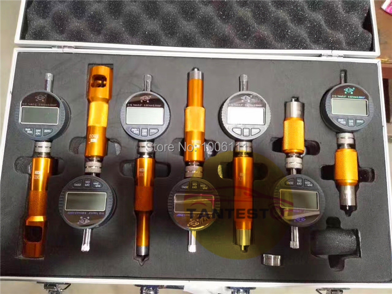 цена на upgrade type common rail injector nozzle valve measuring tool with 7PCS Micrometer gauges for Bossch and Densso injector nozzles