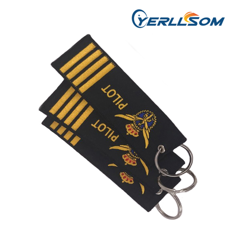 YERLLSOM 500PCS/Lot High Quality Wholesale Cheap Twill Promotion Machine Embroidery Custom Woven keychain WH015